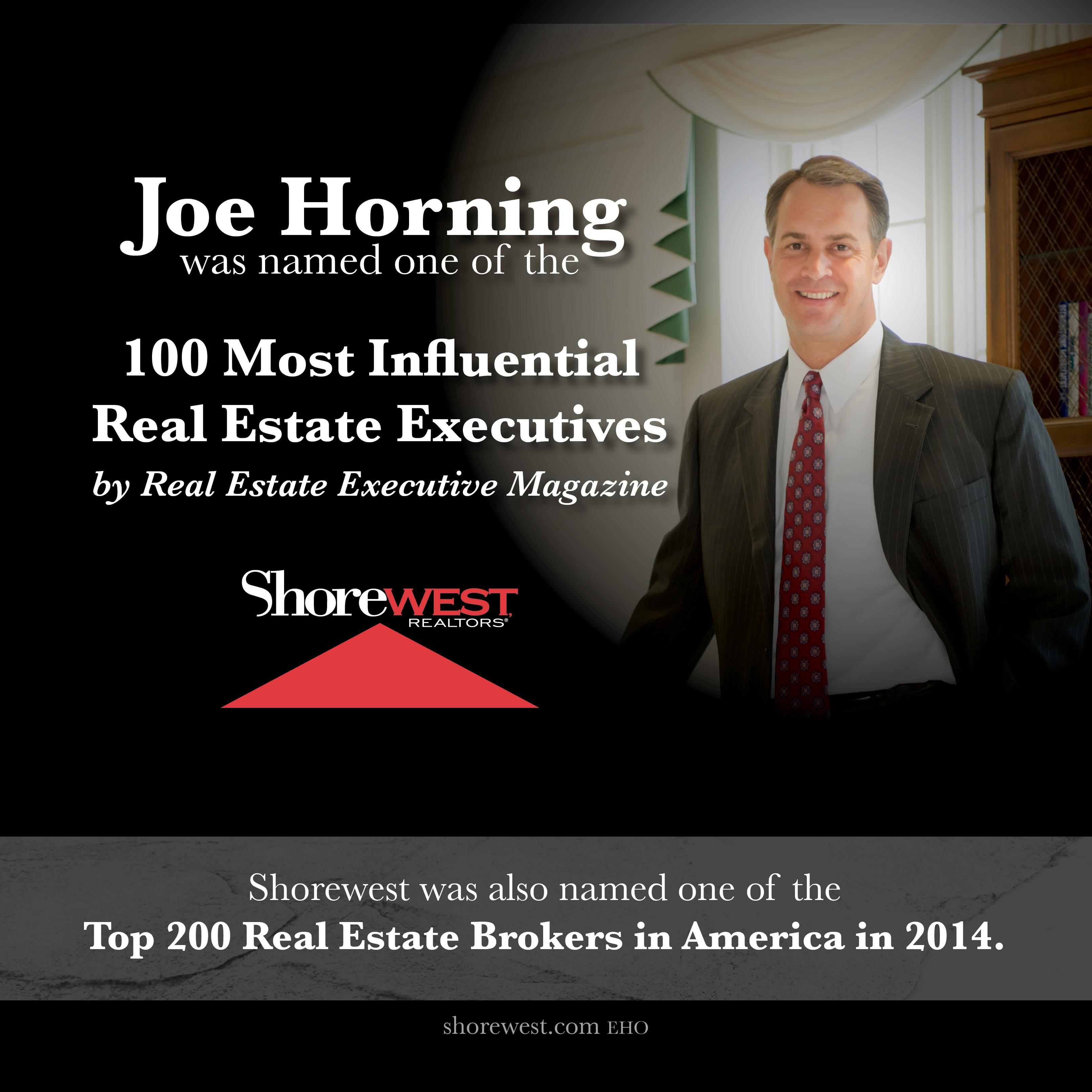 Joe Horning RE Exec Magazine share 1014