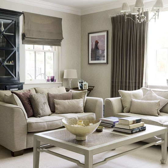 Awesome Woonkamer Taupe En Wit Contemporary - Trend Ideas 2018 ...