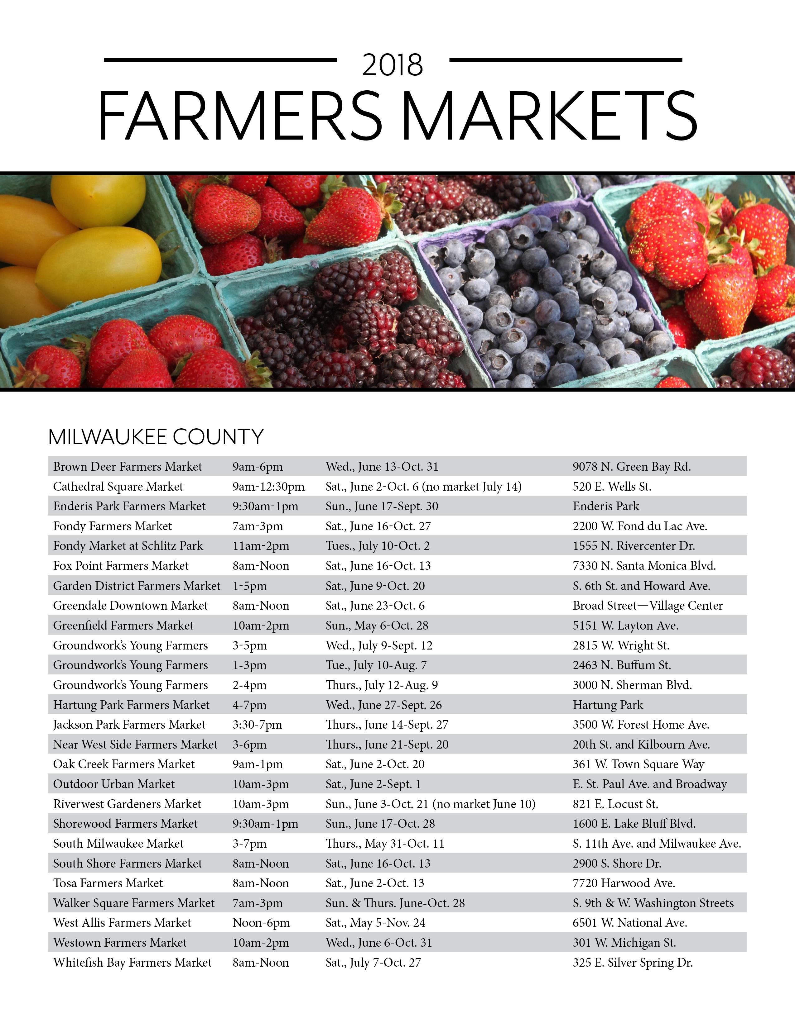 2018 Farmers Market Flyer