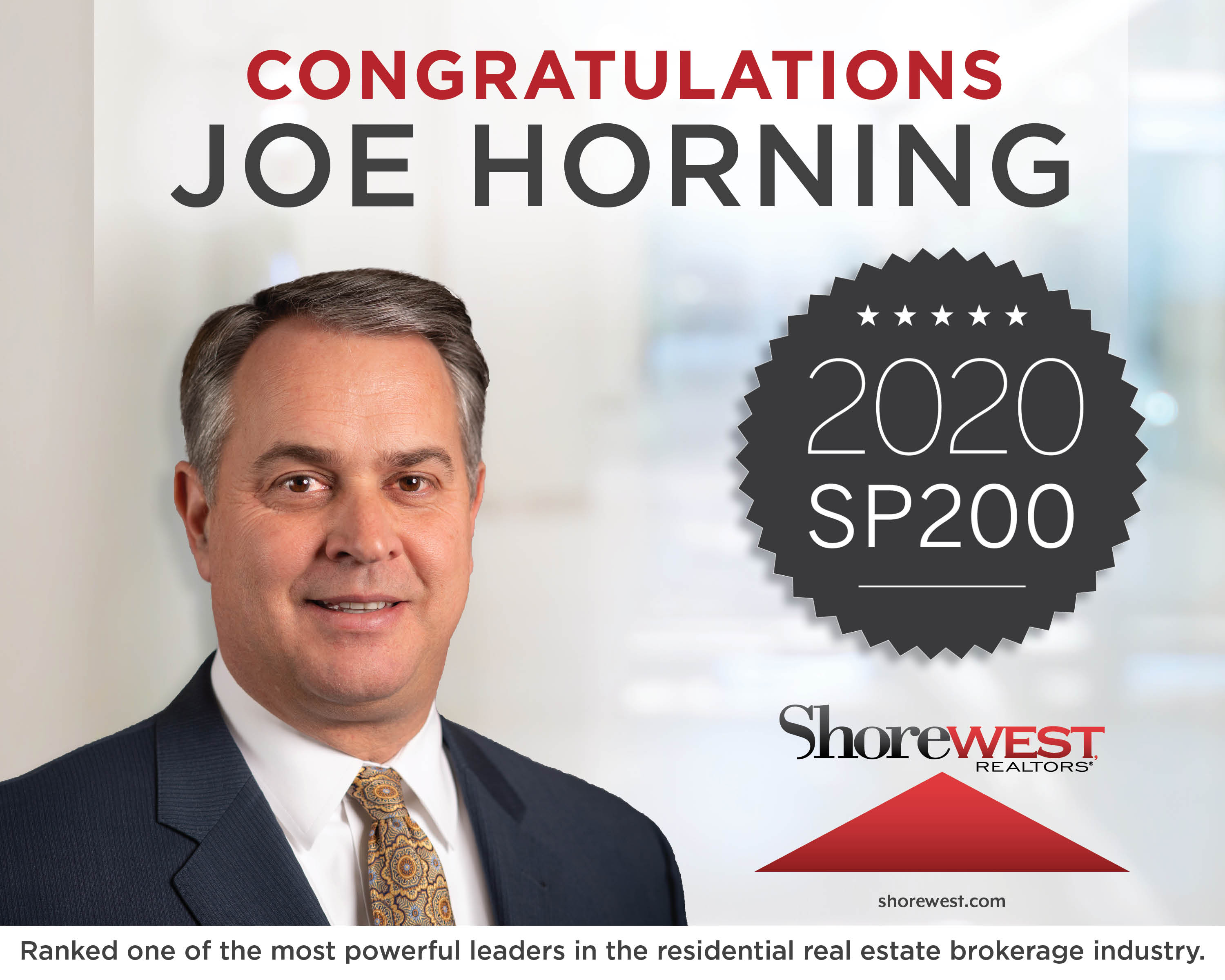 Joseph Horning Ranks in Top 100 of The Most Powerful People in Residential Real Estate 2020?